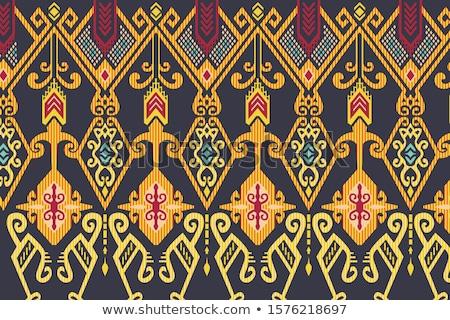ベクトル · パターン · 民族 · インドネシアの · シームレス · テクスチャ - ストックフォト © pzaxe