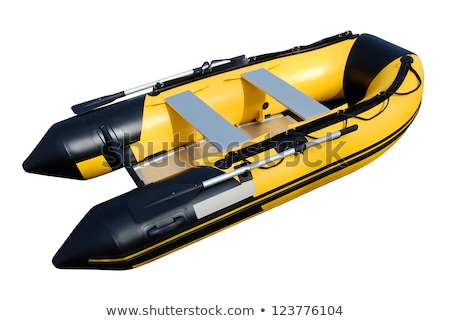 黄色 インフレータブル ボート 孤立した 白 パス ストックフォト © ssuaphoto
