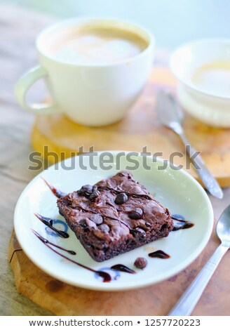 Tea is served in stylish, heart-shaped cake. Stock photo © justinb