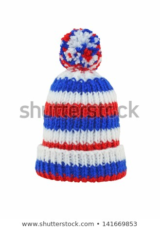 Stock photo: knitted winter bonnet