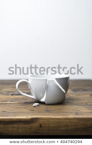 Doughnuts with spilled coffee or tea stock photo © veralub