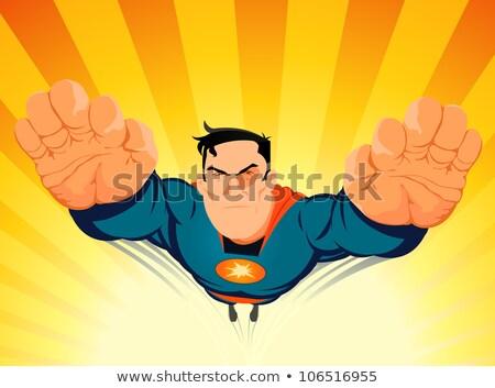 Comic Superhero Blasting Off Stock photo © benchart