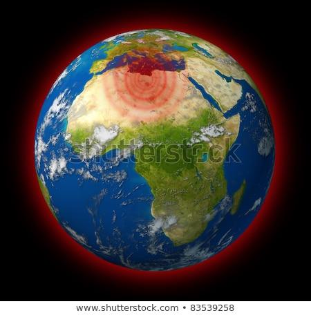Libia konflikt globalny hot miejscu planety Ziemi Zdjęcia stock © Lightsource