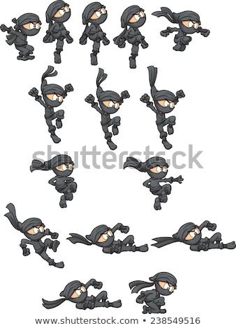 Japanese Ninja - Cartoon Character - Vector Illustration stock photo © indiwarm