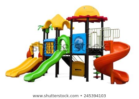 szett · gyerekek · játszik · játszótér · felszerlés · illusztráció - stock fotó © cteconsulting