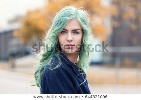 meisje · illustratie · mooie · vrouw · bruin · haar - stockfoto © Theohrm