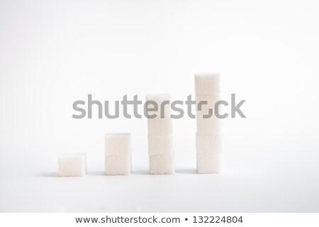 Sugar cubes piled up together Stock photo © wavebreak_media