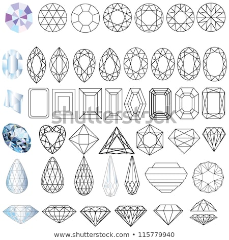 Diamond marquise jewel, vector illustration  Stock photo © carodi