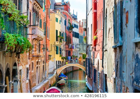 Gondol küçük kanal Venedik İtalya eski Stok fotoğraf © rglinsky77