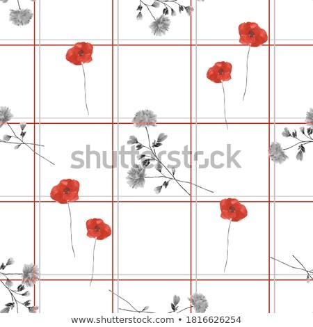 красные цветы украшение филиала цветы красный завода Сток-фото © ABBPhoto