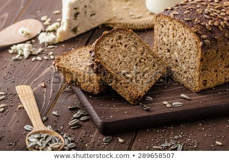 Eigengemaakt volkorenbrood witte gezondheid achtergrond Stockfoto © jirkaejc