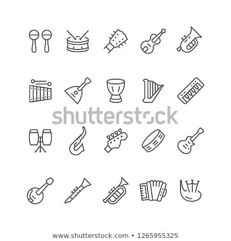 Vector icon xylophone Stock photo © zzve