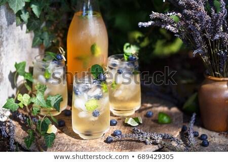 Fresco saboroso quente chá limão de Foto stock © juniart