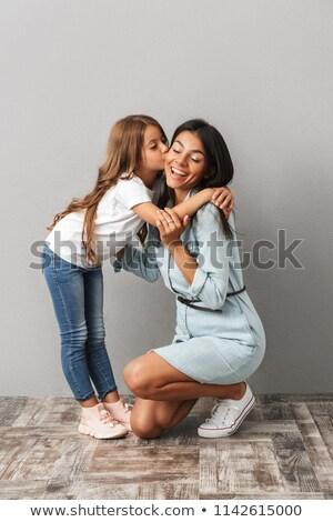Madre figlia guancia posa estate Foto d'archivio © ozgur