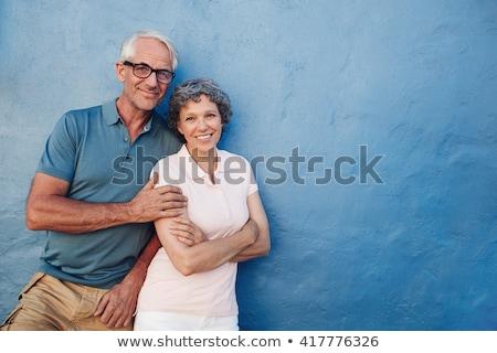 Senior Couple Looking Trustfully Stock photo © ozgur