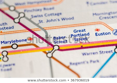 tubo · mapa · Londres · subterrâneo · metrô · metro - foto stock © luissantos84