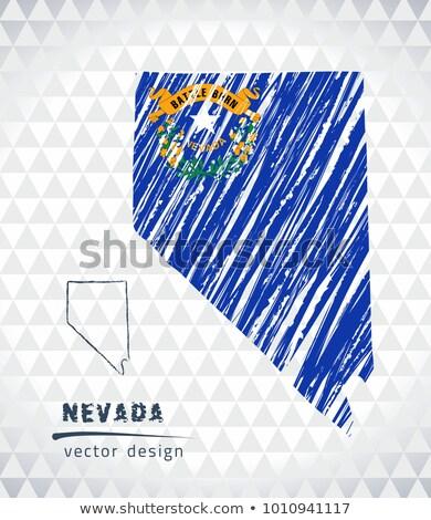 Skicc térkép Nevada iskolatábla rajz tábla Stock fotó © vepar5