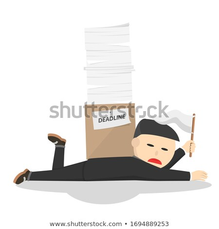 Overworked Character Showing Exhausting Workload Stock photo © stuartmiles