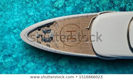yat · kıyı · deniz · manzarası · yaz · mavi · seyahat - stok fotoğraf © petrmalyshev
