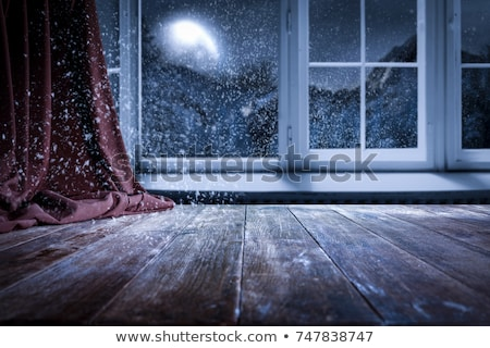 расплывчатый · свет · окна · снега · фон · оранжевый - Сток-фото © romvo