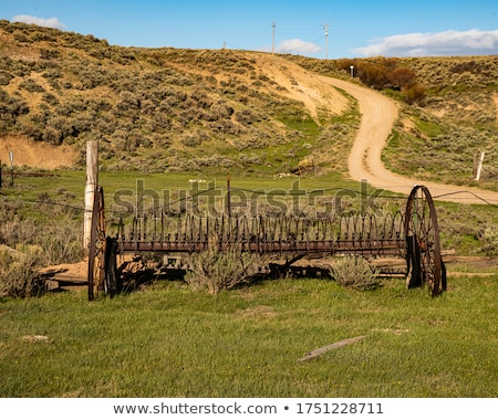 Hay Rake in Field Stock photo © enterlinedesign