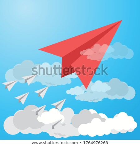 Concurrentie grijs pijlen leidend Rood pijl Stockfoto © m_pavlov