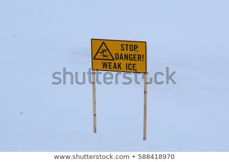 Dangerous area: Thin Ice stock photo © Habman_18