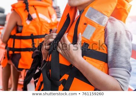 Zwemvest mariene geïsoleerd witte veiligheid hi-tech Stockfoto © ChilliProductions