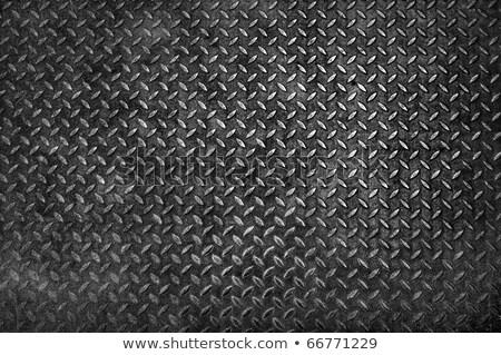 Stock fotó: Grunge · gyémánt · fém · tányér · textúra · közelkép