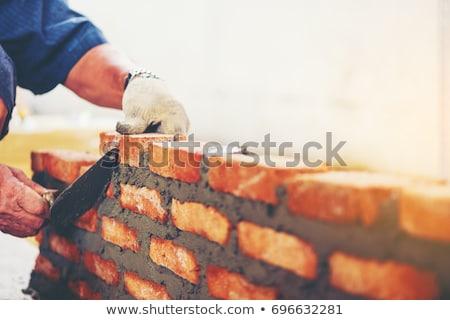 Oude metselwerk hamer witte verticaal foto Stockfoto © tab62