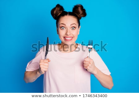 brunette with knife Stock photo © 26kot