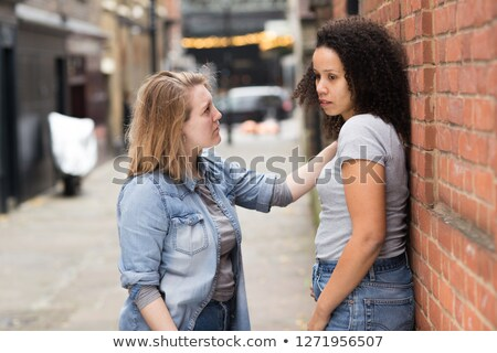 Vrouw lesbische partner portret stress woede Stockfoto © bmonteny