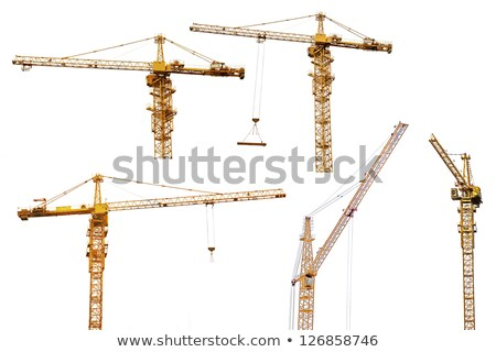 Yellow hoisting cranes isolate Stock photo © cherezoff