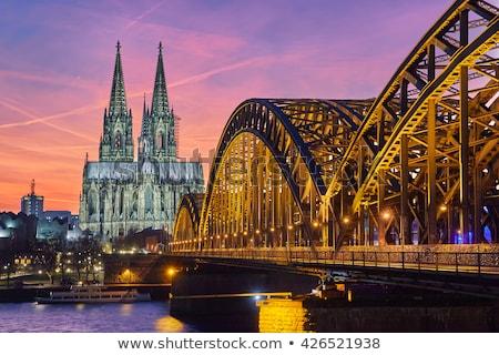 Bridge in Cologne in sunset light Stock photo © meinzahn