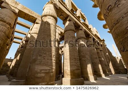 Magnifique salle louxor Egypte Voyage pierre Photo stock © eleaner