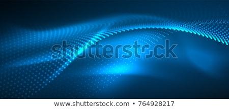 Photo stock: Lumineuses · résumé · bleu · futuriste · vague · vecteur