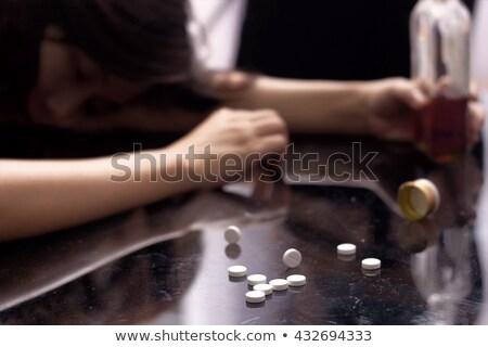 drug · misbruik · variëteit · pillen · tabel · gezondheid - stockfoto © cwzahner