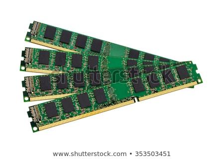 メモリ 2 マザーボード マクロ 緑 ストックフォト © mady70