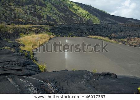 溶岩 道路 ハワイ 自然 道路 ストックフォト © jarin13