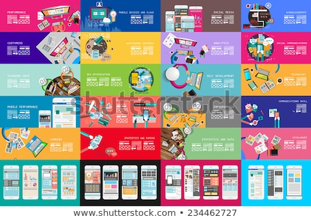 Stock fotó: Infografika · csapatmunka · szalag · szett · ötletelés · stílus