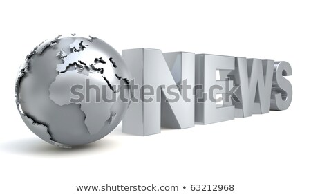 Metal News Text stock photo © bosphorus