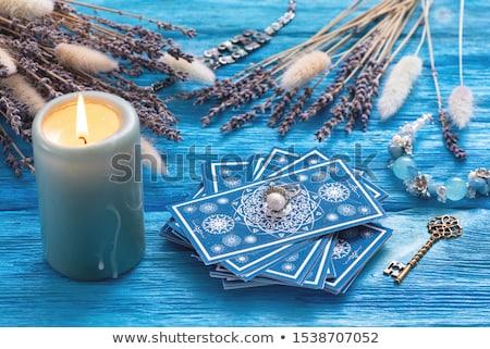 Tarot örnek kadın okuma gelecek kartları Stok fotoğraf © adrenalina
