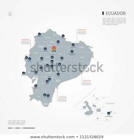 Orange bouton image cartes Equateur forme Photo stock © mayboro