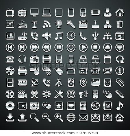 Fémes videókamera ikon vektor terv üzlet Stock fotó © Pinnacleanimates