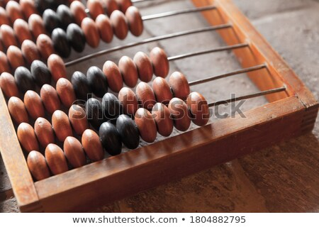 part of old wooden abacus Stock photo © Mikko