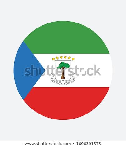 ícone bandeira Guiné Equatorial assinar branco Foto stock © MikhailMishchenko
