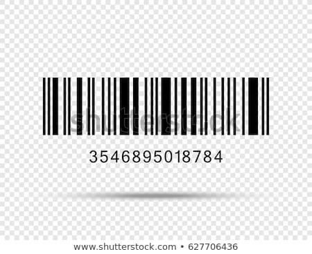 Streepjescode silhouet hoofd persoon business lichaam Stockfoto © Lom