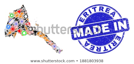 Eritreia país bandeira mapa forma texto Foto stock © tony4urban