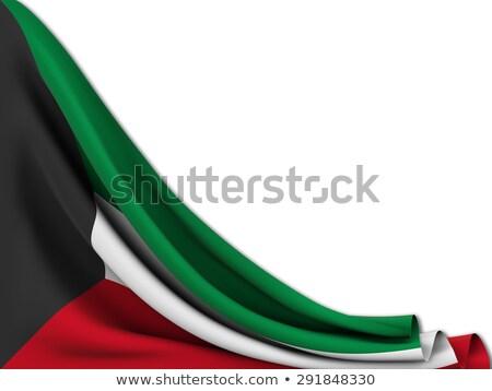 Stockfoto: Icon · vlag · Koeweit · geïsoleerd · witte · land