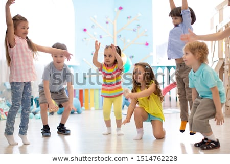 jumping team in kindergarten Stock photo © Paha_L